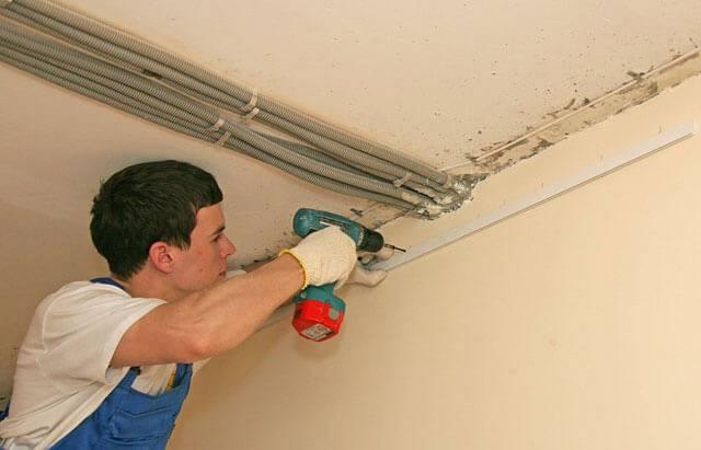 К чему и как крепятся натяжные потолки, как сделать крепеж карниза, подробнее на фото и видео
