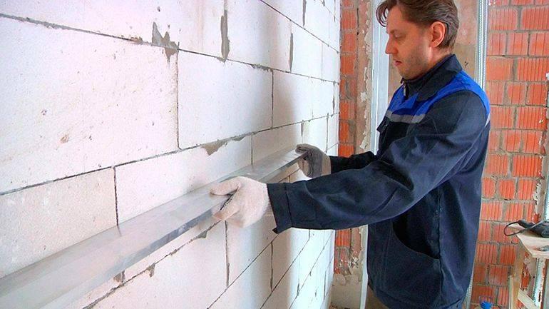 Процесс выравнивания стен по маякам своими руками поэтапно: как выставить маячки