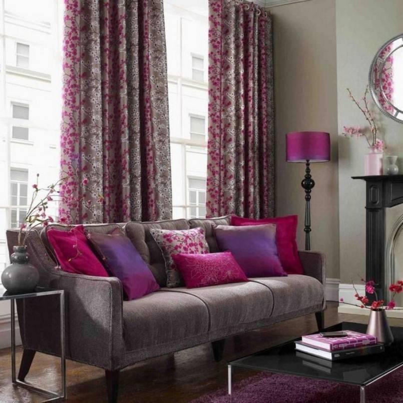 Фиолетовые шторы в интерьере: 50 лучших примеров с фото