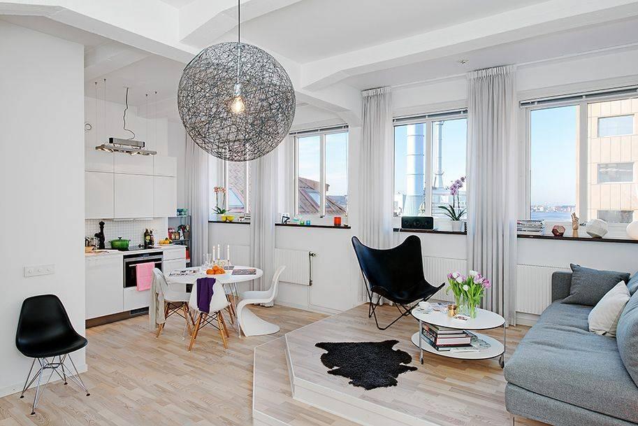 Современный дизайн однокомнатных квартир (59 фото): ремонты в разных стилях 1-комнатных квартир площадью 20, 42 и 45 кв. м, интерьер в светлых тонах