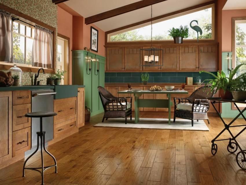 Пол на кухне – основные варианты напольных покрытий и их оформление