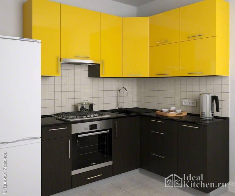 Угловые гаринтуры для маленькой кухни - фото реальных кухонь