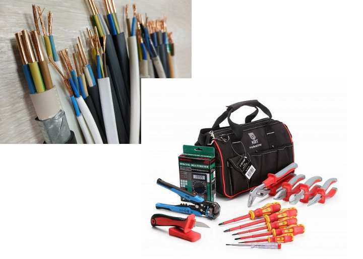 Что нужно для электромонтажа – список материалов и инструментов