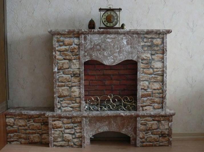 Бутафорский камин своими руками — создаем новогоднюю атмосферу