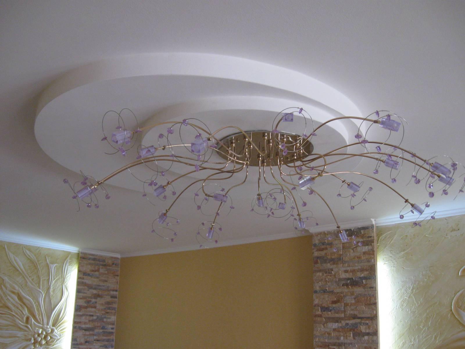 Фото потолков из гипсокартона для гостиной: виды, современные идеи оформления