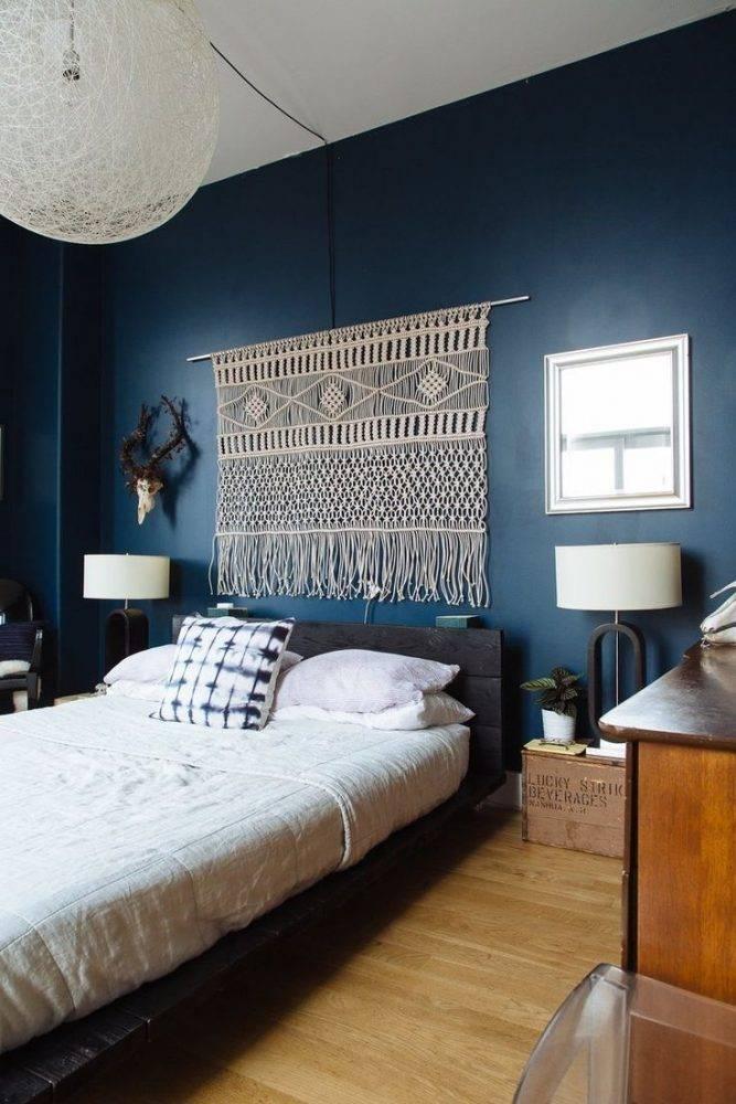 Синяя спальня, правила оформления дизайна интерьера