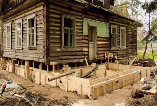 Как залить фундамент вокруг старого дома