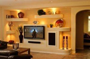 Дизайн стен из гипсокартона (48 фото): гкл в интерьере гостиной и спальни, идеи декора квартиры с колоннами, отделка под кирпич и другие варианты
