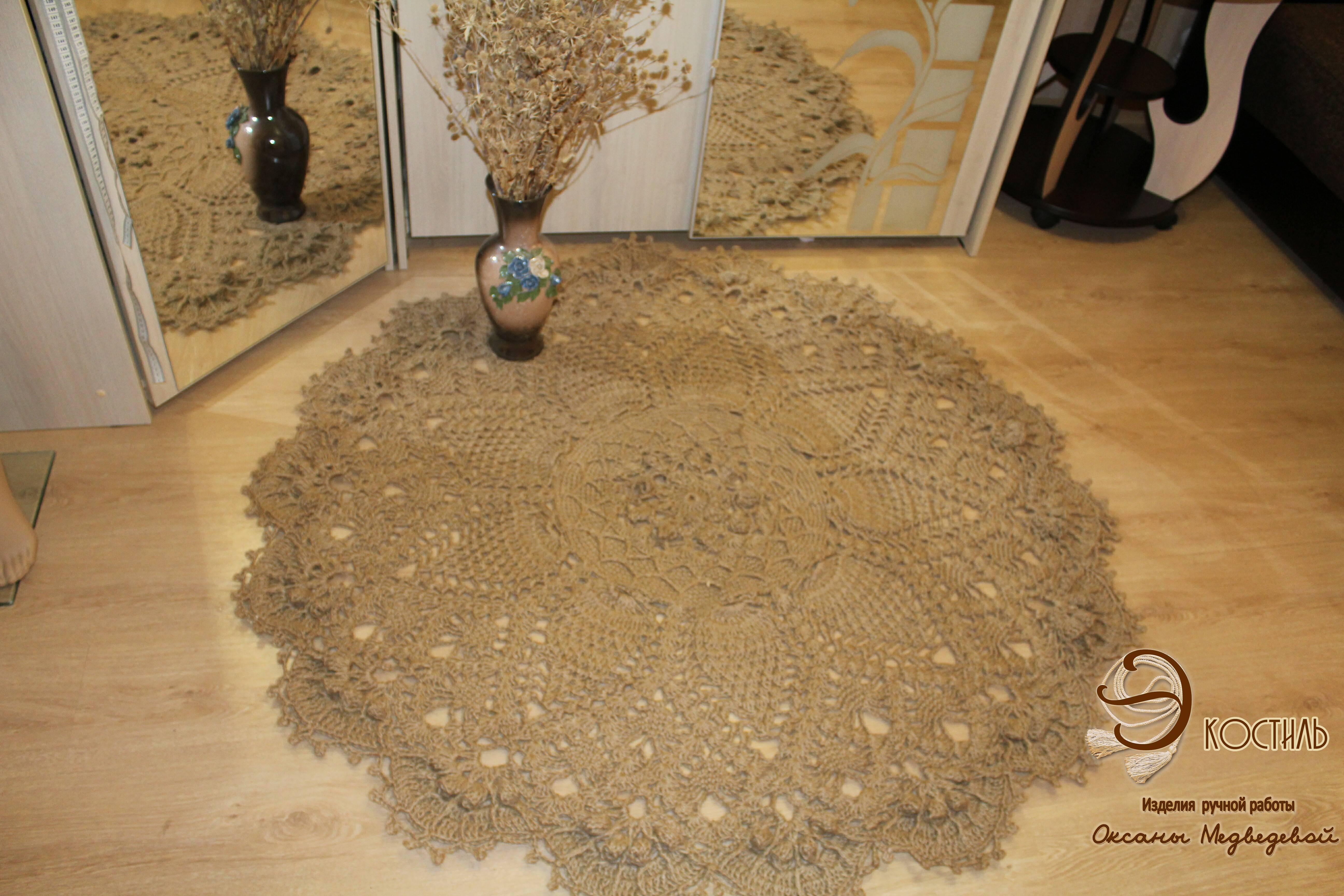 Вязание ковров из шнура крючком: схемы, мастер-класс с фото и видео