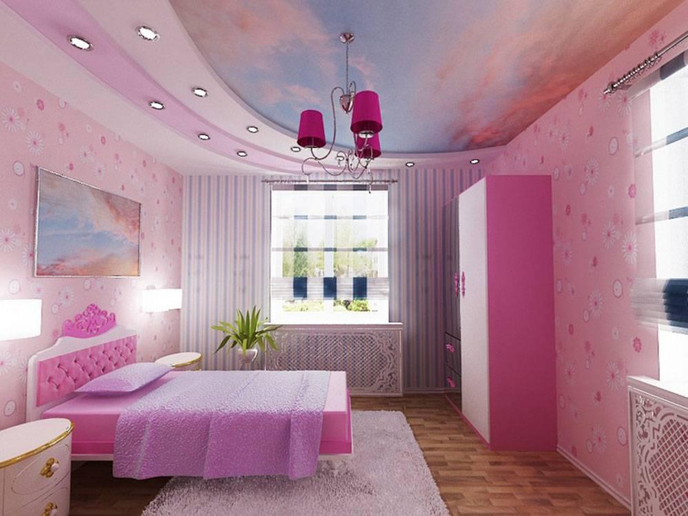 Натяжные потолки в детскую комнату: фото лучших примеров оформления