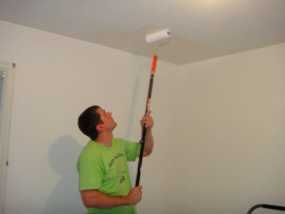 Каким валиком лучше красить стены водоэмульсионной краской - все про гипсокартон