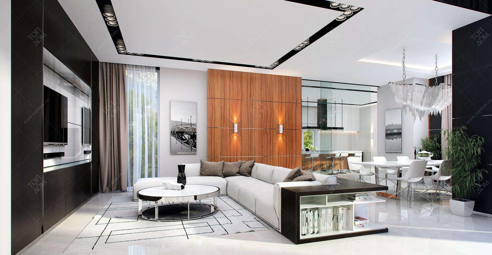 Интерьеры квартир в современном стиле - 136 фото | 2020 - 2021 год