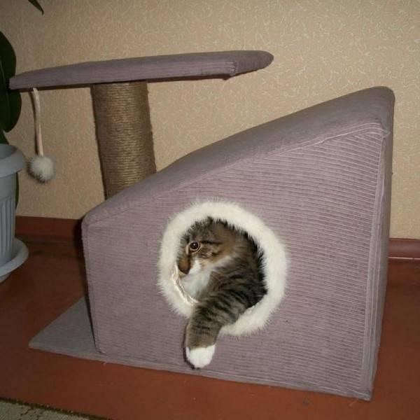 Домик для кошки своими руками из фанеры: чертежи с размерами