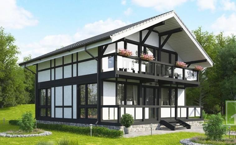 Фахверковый деревянный дом