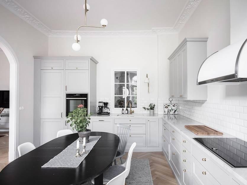 Кухня в скандинавском стиле: 80 интерьеров для тех, кто предпочитает минимализм и бескомпромиссный комфорт