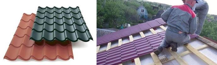 Крыша из металлопрофиля своими руками: характеристика материала, устройство кровли, правила монтажа и отделки фронтонов