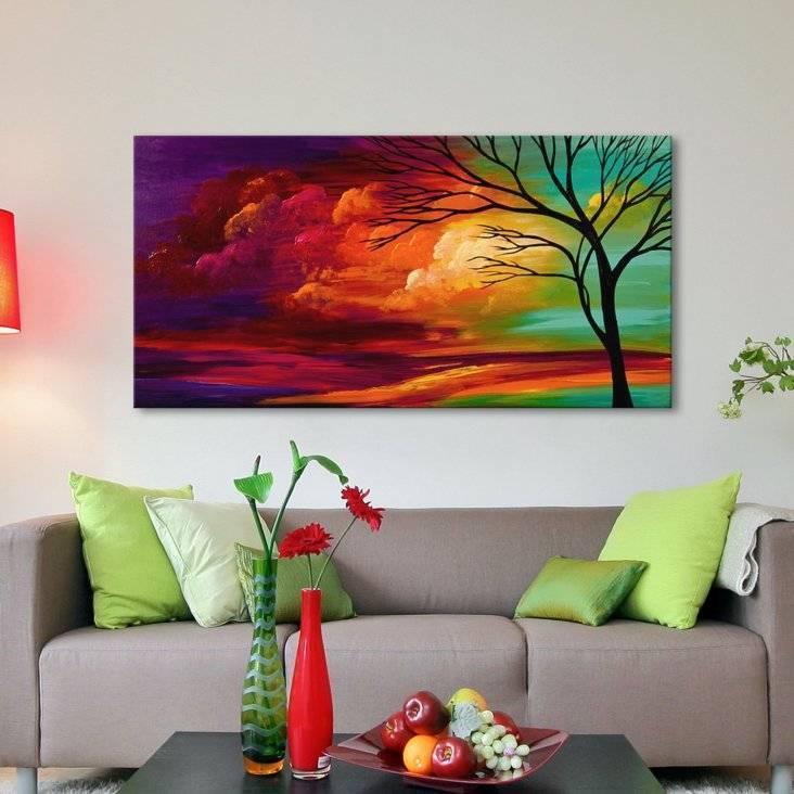 Постеры и картины для интерьера гостиной, оформление и украшение больших картин, как лучше развесить
