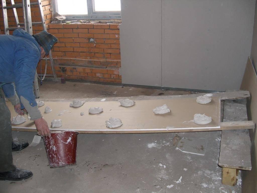 Как клеить гипсокартон к стене своими силами | gipsokart.ru