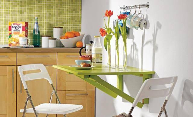 Откидной стол с креплением к стене: плюсы и минусы, виды, материалы, сборка