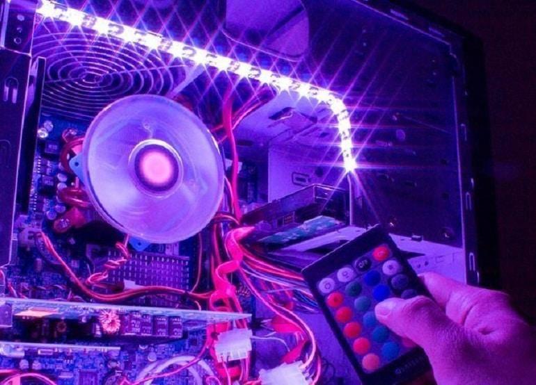 Способы подключения светодиодной ленты к компьютеру