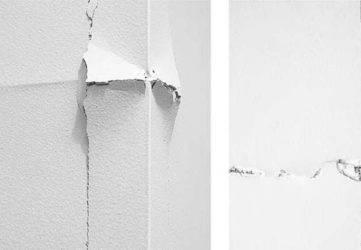 Трещина на потолке из гипсокартона — как исправить?