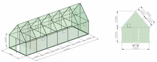Размеры теплиц | огородник