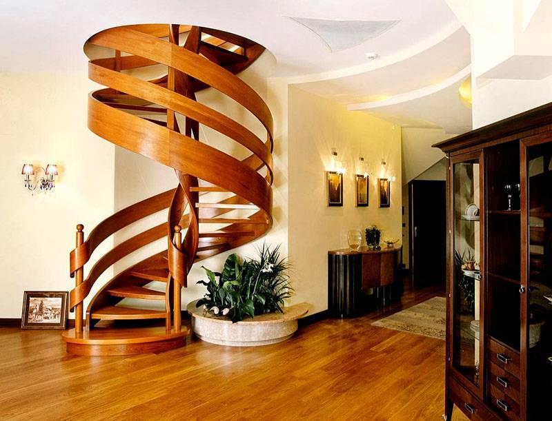 Деревянные винтовые лестницы на второй этаж своими руками: расчет, изготовление конструкции с фото и видео