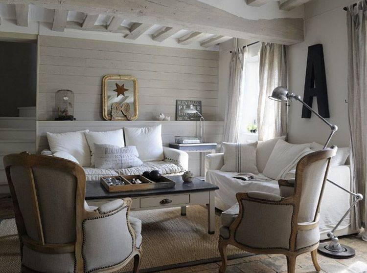 Очень красивый стиль прованс в интерьере загородного дома: отделка стен, цвета  - 47 фото