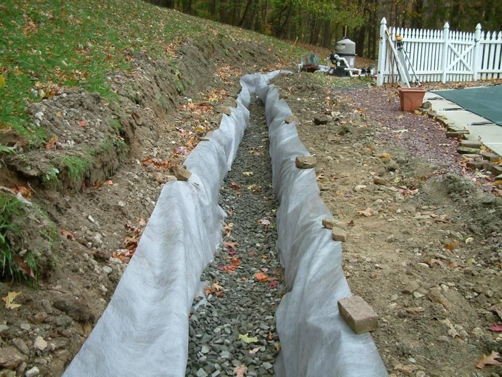 Дренаж участка своими руками на глинистых почвах с высоким уровнем воды (видео + схема)