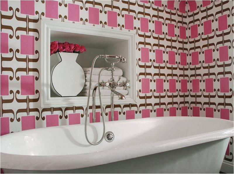 Обои для ванной комнаты: критерии выбора и характеристика видов