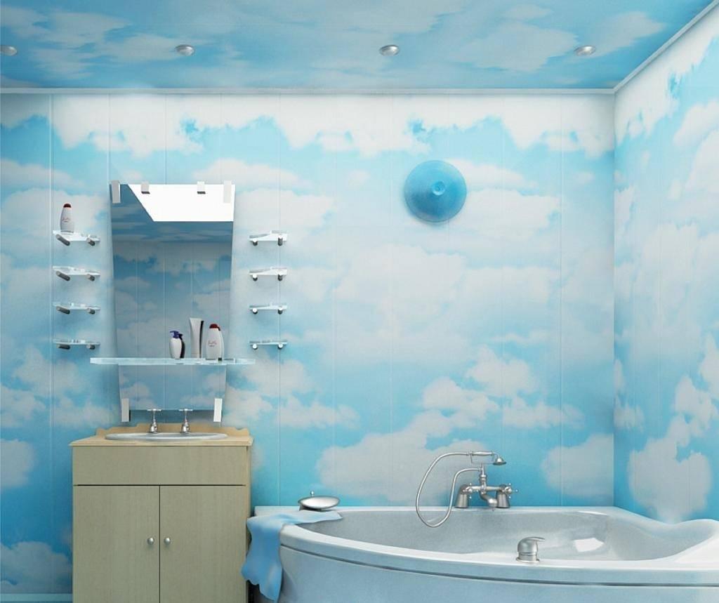Пвх-панели для ванной (53 фото): дизайн потолка пластиковыми панелями в комнате, обшитая листовыми материалами поверхность, отзывы