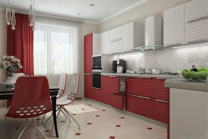 Кухня бордового цвета - особенности оформления и сочетания, реальные фото примеры