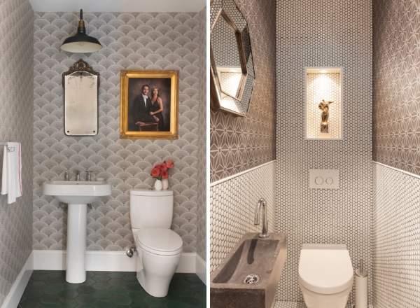 Обои для туалета в квартире - 20 фото