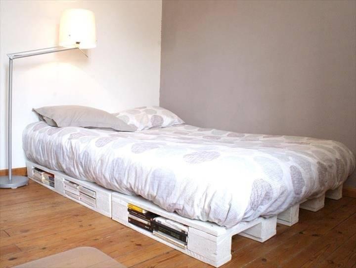 Кровать из поддонов: интересные идеи и удачные сочетания (120 фото)
