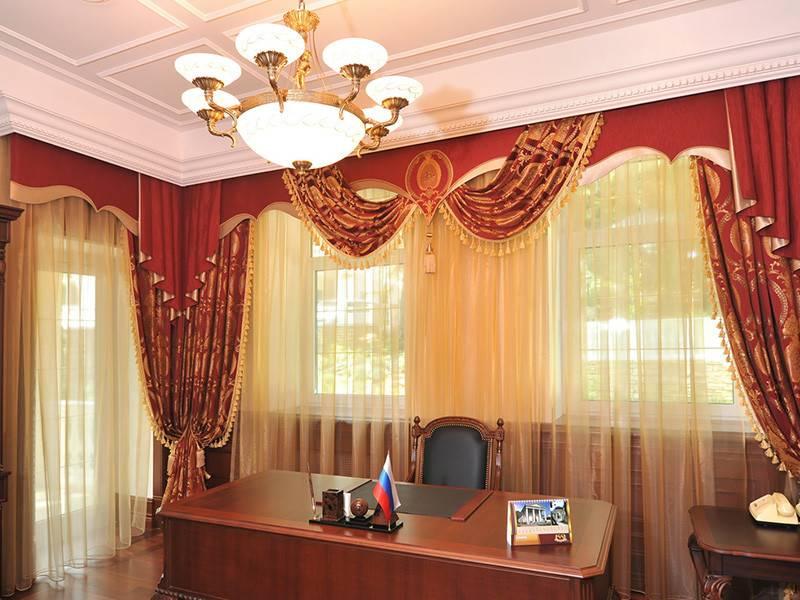 Шторы для кабинета руководителя или директора – фото примеры