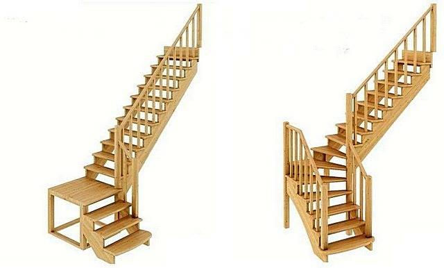 Расчет лестниц с поворотом на 180 градусов