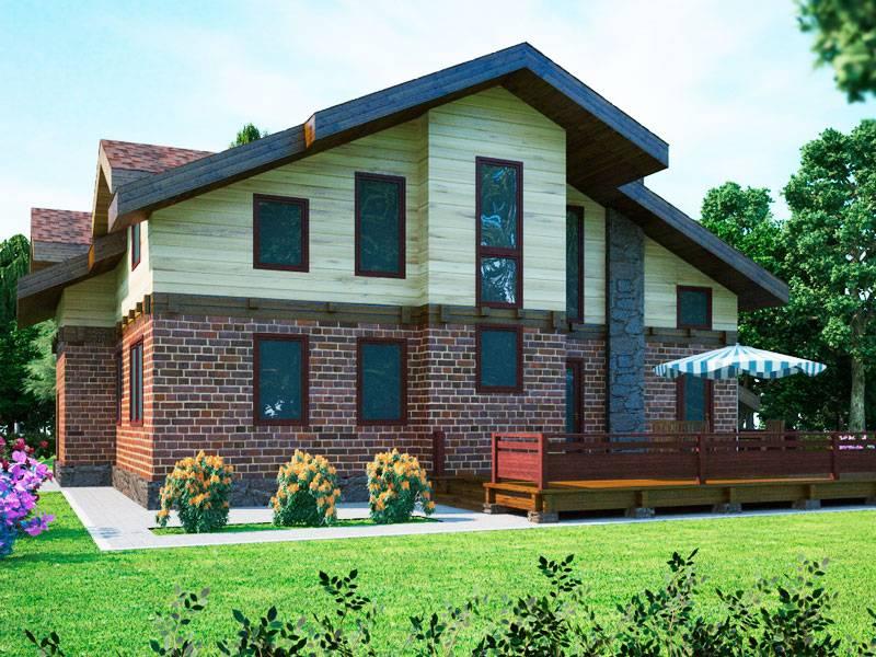Комбинированные дома из камня и дерева: виды, проекты, материалы