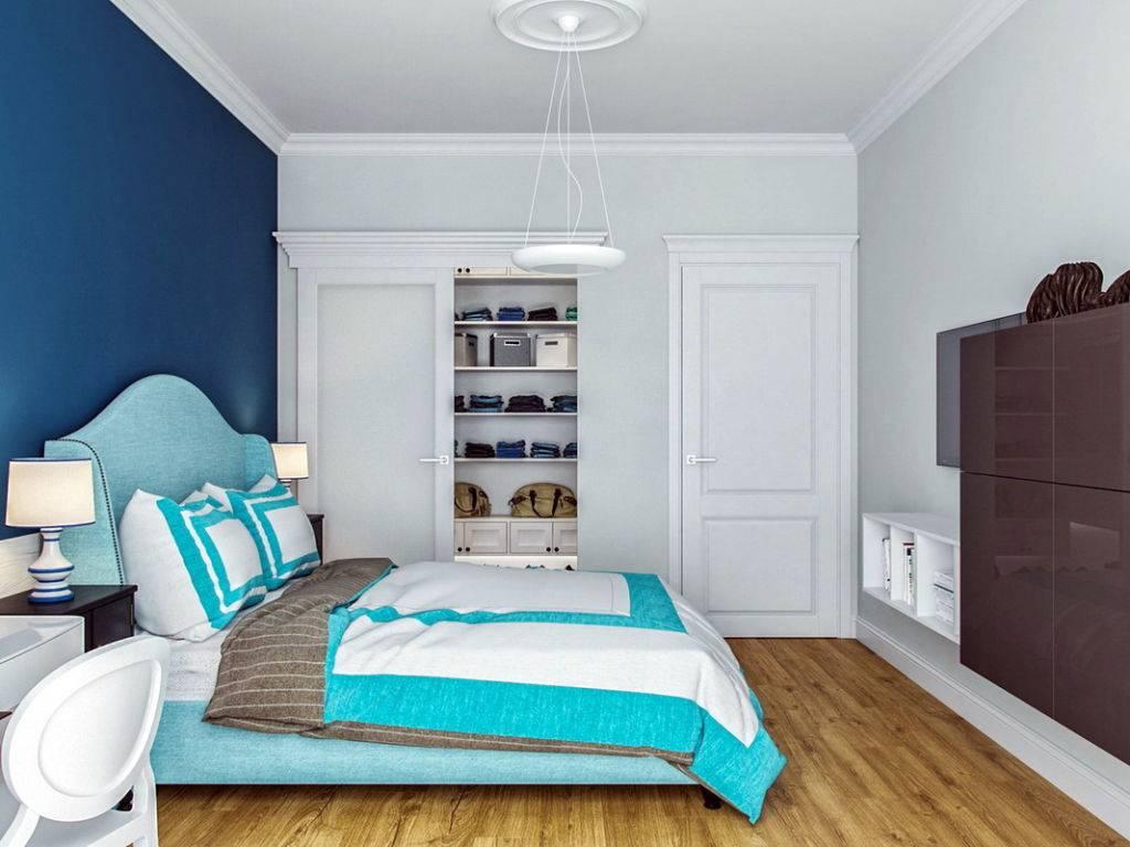 Бирюзовая комната красивая и уютная: продуманный дизайн мебели, обоев и аксессуаров