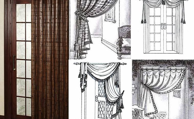 Как сделать декоративные шторы на дверной проем без двери своими руками: из бамбука (бамбуковые), из ниток, мастер-класс, фото, видео » verydveri.ru