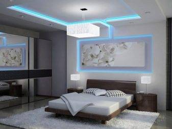 Навесные потолки для спальни (28 фото): дизайн легких подвесных конструкции в комнатах,  производство индии