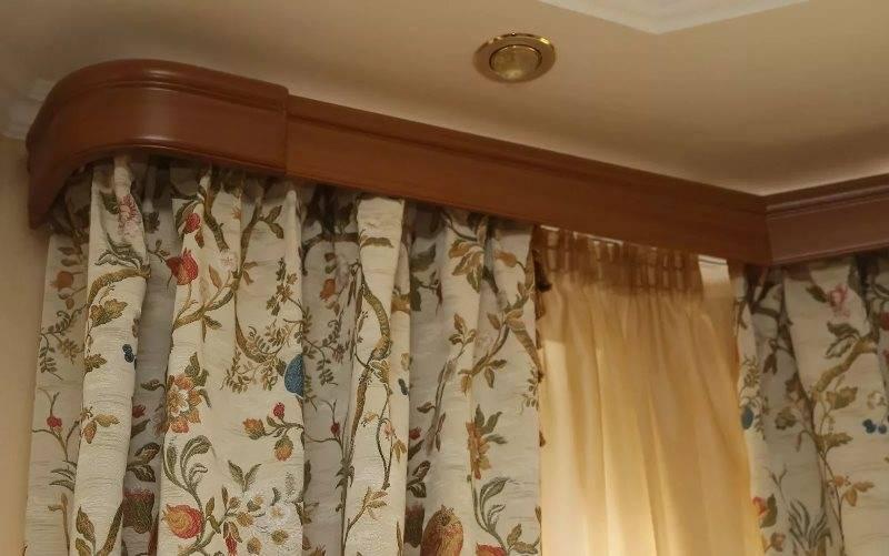 Багетный карниз для штор: 4 вида
