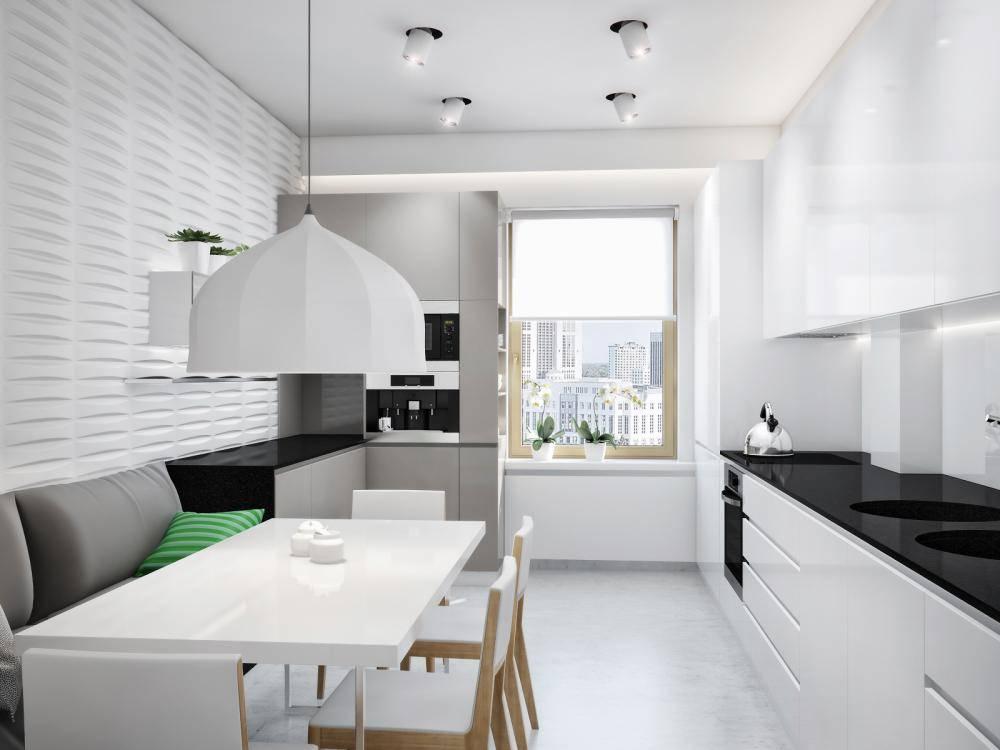 Дизайн прямоугольной кухни (35 фото): варианты планировки, 9 полезных приёмов, примеры реальных интерьеров