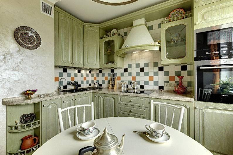 Кухня оливкового цвета, 18 фото интерьера разных стилей, сочетания разных оттенков