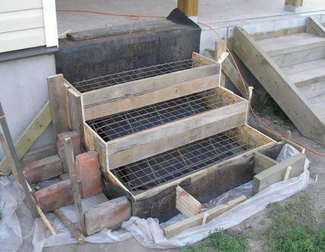 Заливаем крыльцо из бетона от и до: проект, материалы, бетонные работы и отделка