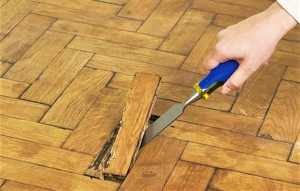 Как убрать вмятины на мебели, паркете и дереве своими руками