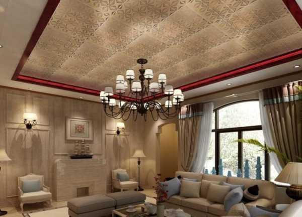 Красивые натяжные потолки для зала (13 фото)