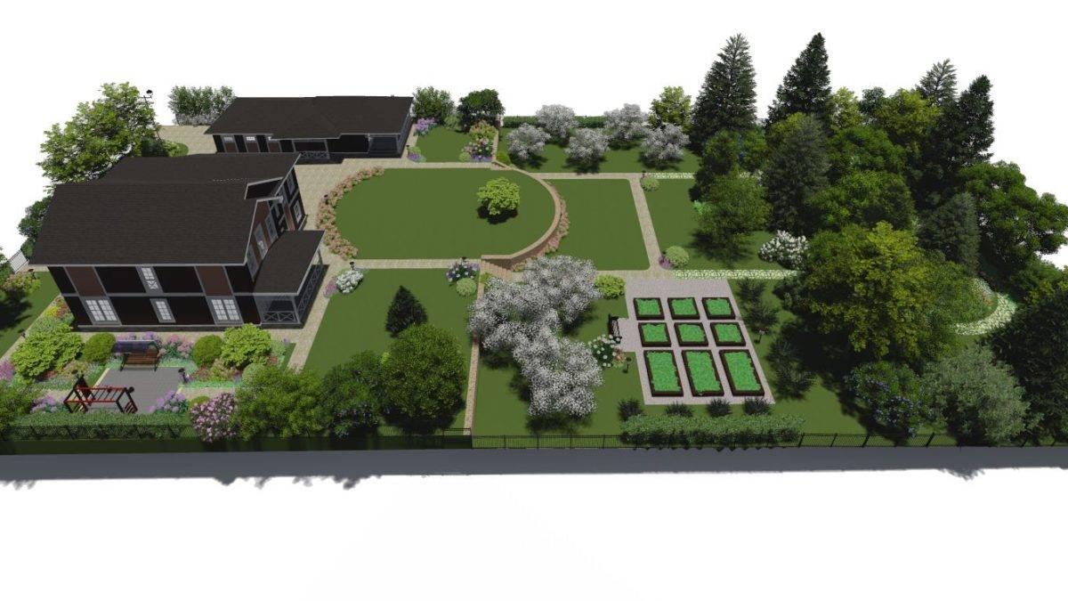 Дизайн садового участка своими руками — лучшие идеи, фото