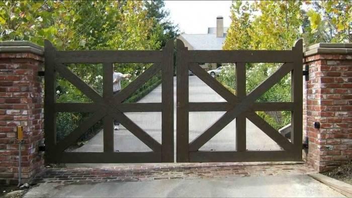 Деревянные ворота своими руками: пошаговая инструкция
