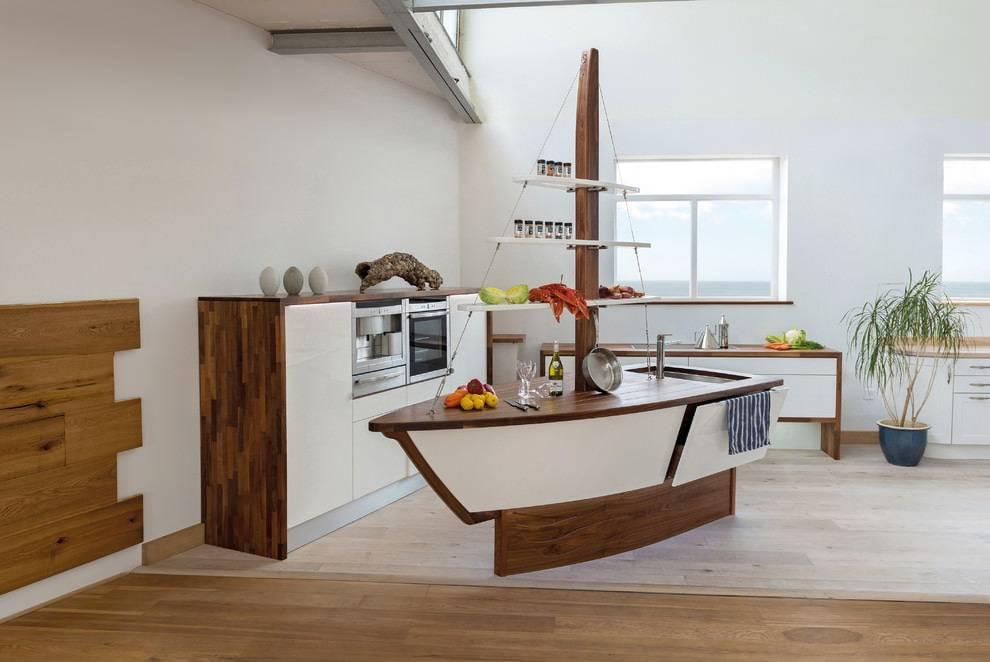 Морские мотивы в интерьере кухни: цвет, декор, предметы