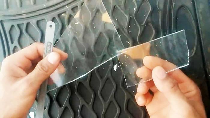 Режем стекло в домашних условиях: стеклорезом и простыми ножницами